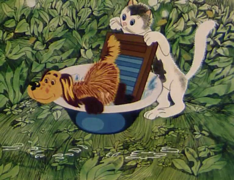 кошечка и собачка мыли пол картинки быть начеку готовой